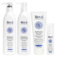 Комплект Aloxxi «Радикальное восстановление»: шампунь, кондиционер, маска и сыворотка