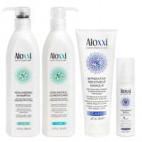 Комплект Aloxxi «Объем и восстановление»: шампунь, кондиционер, маска и сыворотка