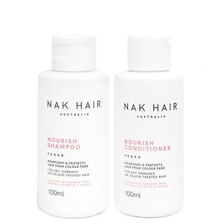 Дорожный комплект NAK Nourish «Питание»: шампунь и кондиционер