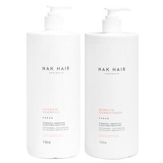 Комплект NAK Duo «Увлажнение XXL»: шампунь и кондиционер, 1000 мл