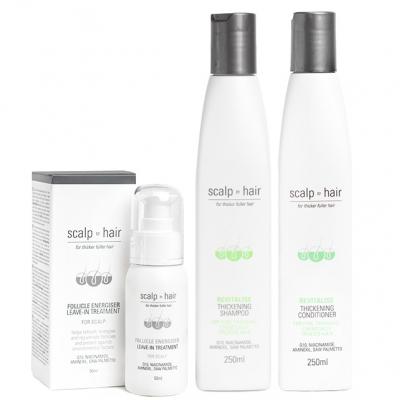 Комплект против выпадения Scalp to Hair Trio для тонких окрашенных волос