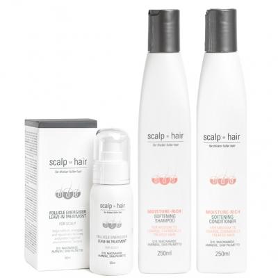 Комплект против выпадения Scalp to Hair Trio для окрашенных волос