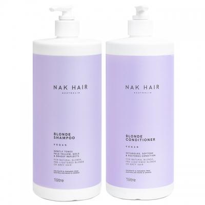 Комплект NAK «Блонд» Duo XXL: шампунь и кондиционер, 1000 мл