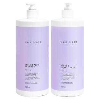 Комплект NAK Duo Blonde Plus «Блонд Плюс XXL»: шампунь и кондиционер, 1000 мл