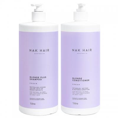 Комплект NAK «Блонд Плюс» Duo XXL: шампунь и кондиционер, 1000 мл