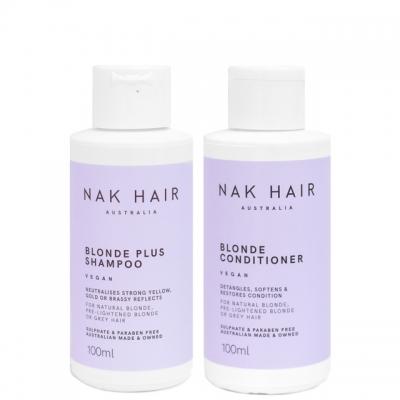Мини-комплект NAK Duo «Блонд Плюс»: шампунь и кондиционер, 100 мл