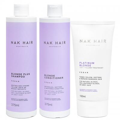 Комплект NAK «Блонд плюс» Trio: шампунь, кондиционер и маска