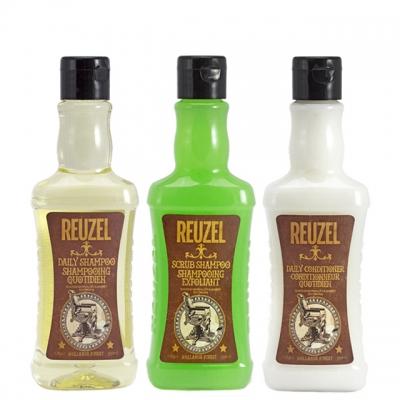 Мини-комплект Reuzel: шампунь, шампунь-скраб и кондиционер, 100 мл