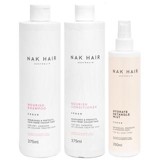Комплект NAK Trio «Мягкие и послушные»: шампунь, кондиционер и спрей