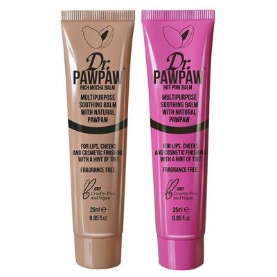 Комплект бальзамов Dr.PAWPAW Duo: мокко и розовый