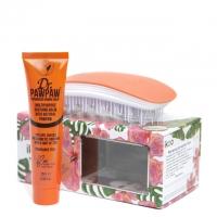 Комплект «Оранжевый цветок»: расческа и бальзам для губ