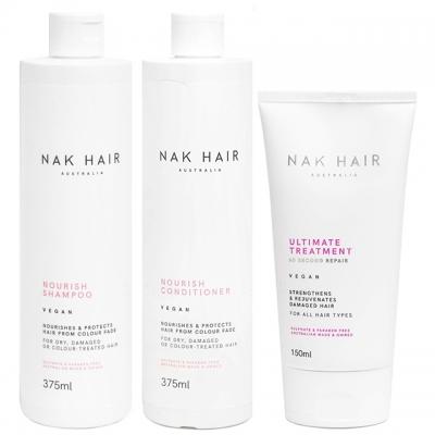 Комплект NAK Trio «Питание и восстановление»: шампунь, кондиционер и маска