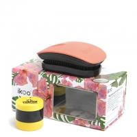 Комплект «Оранжевый цветок»: расческа и скраб-бальзам для губ
