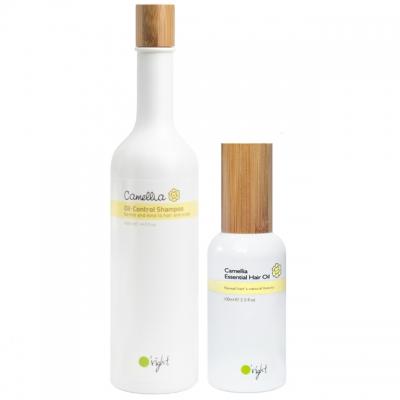 Комплект O'right Duo для жирных волос и сухих кончиков: шампунь и масло