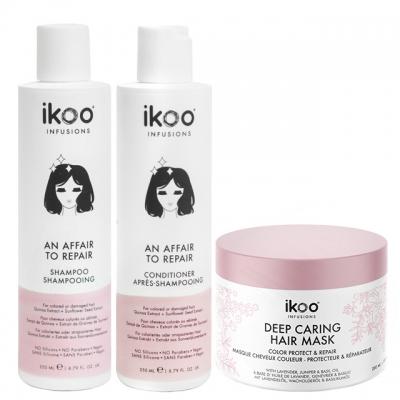 Комплект ikoo Trio «Восстановление»: шампунь, кондиционер и маска