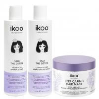 Комплект ikoo «Детокс»: шампунь, кондиционер и маска
