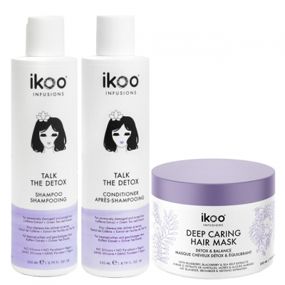 Комплект ikoo Trio «Детокс»: шампунь, кондиционер и маска