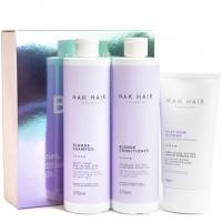Набор NAK Trio «Блонд»: шампунь, кондиционер и маска — против желтизны