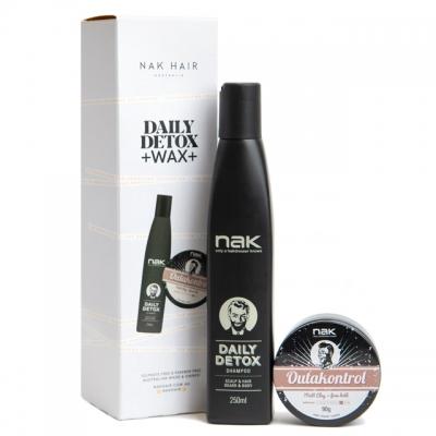 Мужской набор NAK Duo Daily Detox: шампунь и паста сильной фиксации