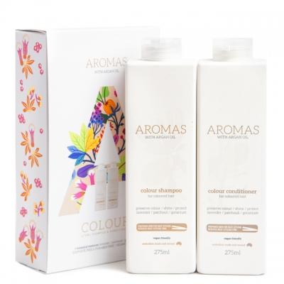Набор Aromas Duo «Увлажнение окрашенных волос»: шампунь и кондиционер