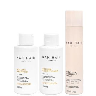 Комплект NAK Trio «Объем»: шампунь, кондиционер и лак