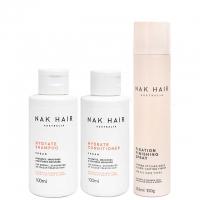 Комплект NAK Trio «Увлажнение и объем»: шампунь, кондиционер и лак