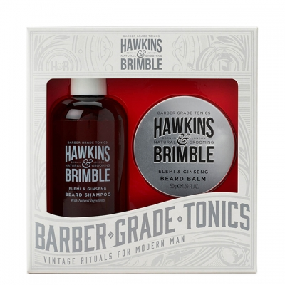 Набор для ухода за бородой Hawkins & Brimble Beard Gift Set: шампунь и бальзам