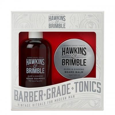 Набор для ухода за бородой Hawkins & Brimble Beard Gift Set: шампунь и бальзам