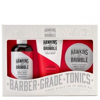 Набор Hawkins & Brimble Root to Tip Gift Set: гель для умывания, гель для душа и паста для волос