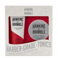 Набор для бритья Hawkins & Brimble Grooming Gift Set: крем для бритья и бальзам