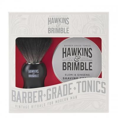 Набор для бритья Hawkins & Brimble Shaving Gift Set: крем для бритья и помазок