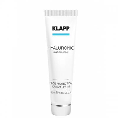 Увлажняющий солнцезащитный крем Klapp Hyaluronic Face Protection Cream SPF 15, 30 мл