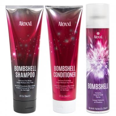 Комплект «Взрывной объем» Aloxxi Trio: шампунь, кондиционер и спрей