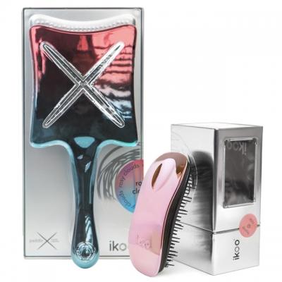 Комплект ikoo duo «Розовые облака» №3: для сушки и расчесывания волос