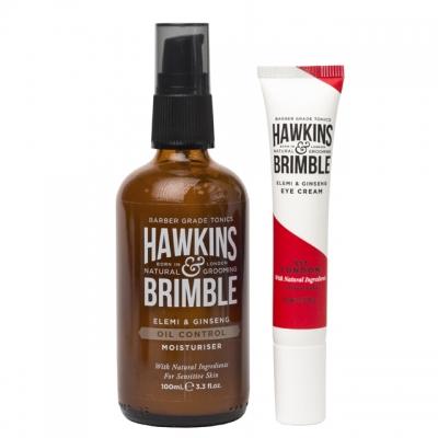 Комплект для лица Hawkins & Brimble Duo: увлажняющий крем и крем для глаз