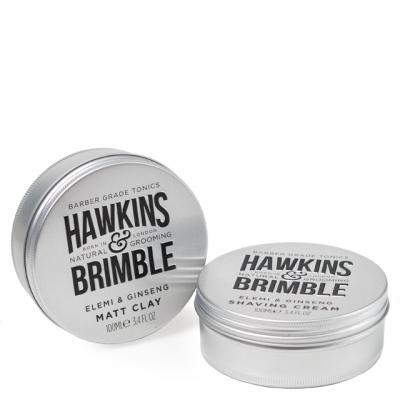 Комплект Hawkins & Brimble Duo: крем для бритья и матовая паста для волос