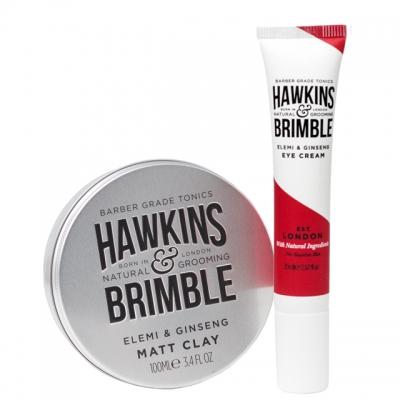 Комплект Hawkins & Brimble Duo: крем для глаз и матовая паста для волос