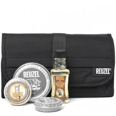Набор Reuzel Pigs Can Fly Dopp Bag: шампунь, твердый одеколон и две матовые помады