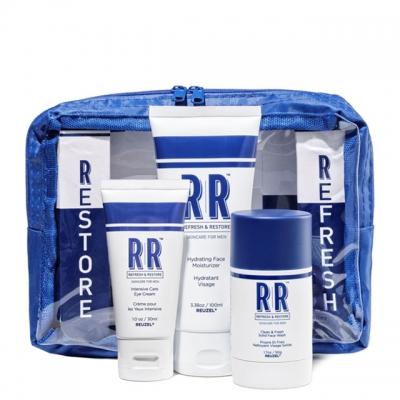 Набор Reuzel Skin Care Travel Bag: очищающий стик и крем для лица, крем для глаз
