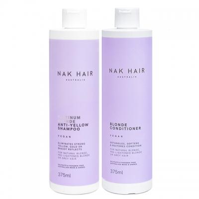 Комплект NAK Duo «Платиновый блонд»: шампунь и кондиционер, 375 мл