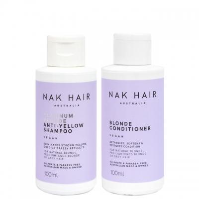Мини-комплект NAK Duo «Платиновый блонд»: шампунь и кондиционер, 100 мл