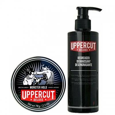 Комплект для укладки волос Uppercut Deluxe Duo: помада экстрасильной фиксации и очищающий шампунь
