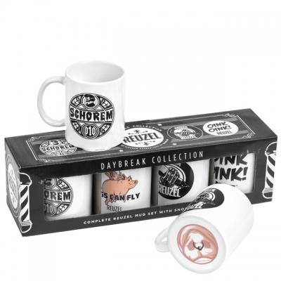 Набор из 4 кружек Reuzel Coffee Mug