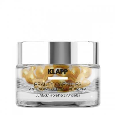 Капсулы красоты Klapp «Антиэдж + Витамин А», 30 шт