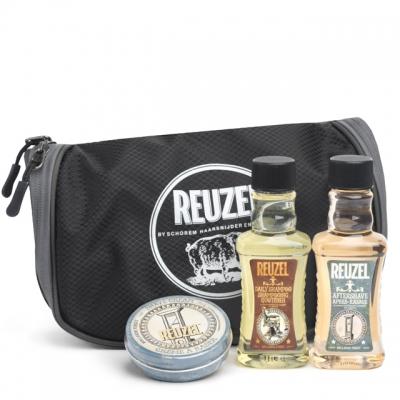 Набор Reuzel Pigs Can Fly: шампунь, лосьон и крем для бритья