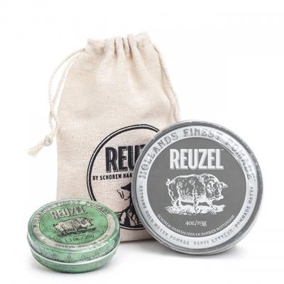 Набор Reuzel Duo: серая и зеленая помады