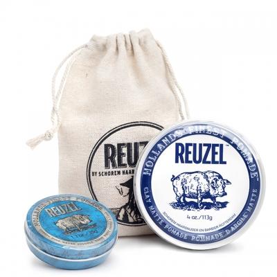 Набор Reuzel Duo: белая и голубая помады