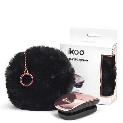 Набор ikoo Pom Pocket Keychain: детанглер и косметичка-брелок