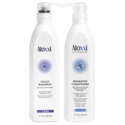 Комплект для холодных оттенков блонд Aloxxi Duo: шампунь и кондиционер