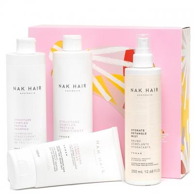 Набор NAK «Протеиновое восстановление»: шампунь, кондиционер, маска и спрей